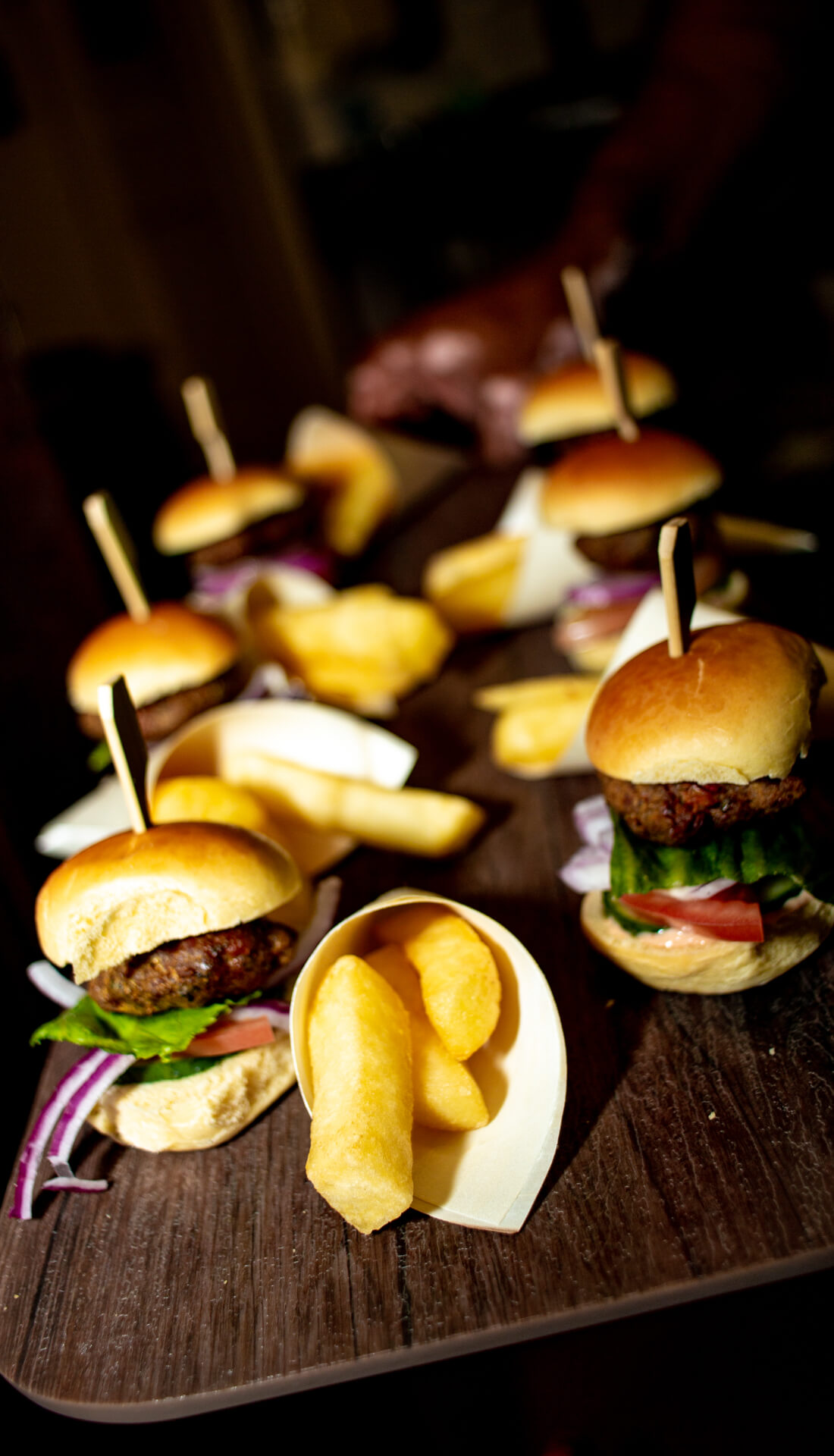 Commercial photographer Birmingham, Commercial photographer Midlands, food photography, mini burgers and chips - Anastasia Jobson