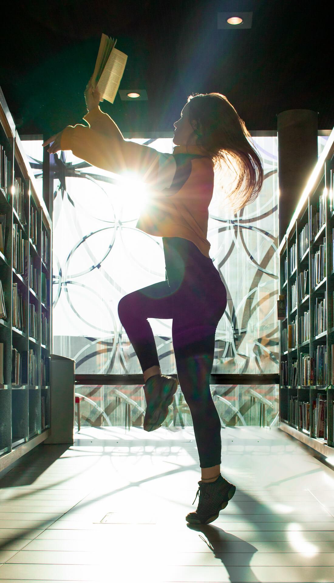 Creative dance portfolio photoshoot Birmingham uk, dance photographer uk, ballet dance photoshoot in Birmingham Library