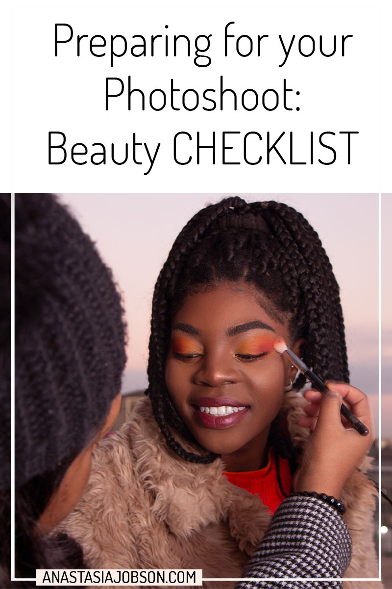 Photoshoot prep: 7-day beauty checklist guide. Photoshoot backstage, makeup application