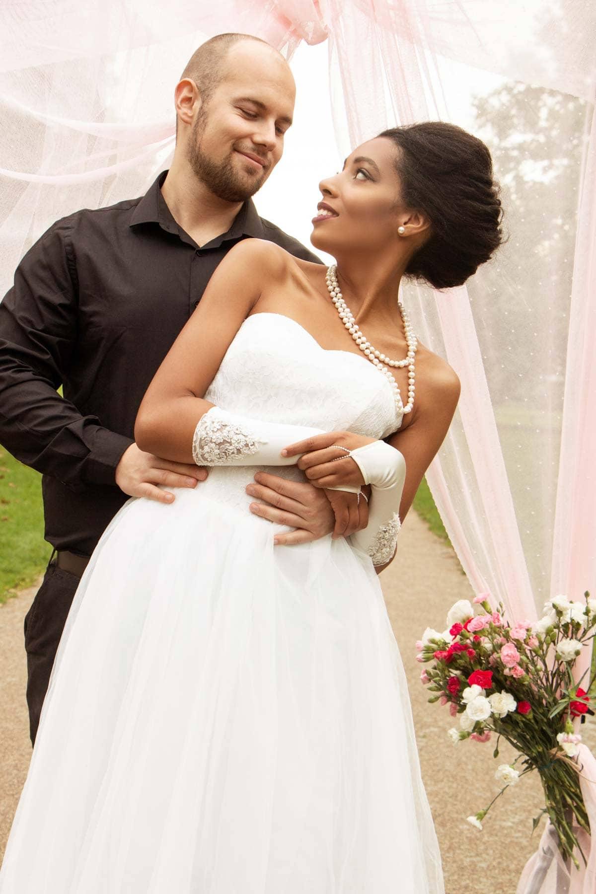 A portrait of bride and groom. Outdoor wedding photoshoot Lichfield Staffordshire, Wedding photographer Lichfield