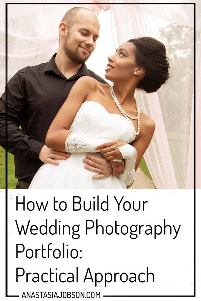 Wedding portfolio building, wedding photography portrait of bride and groom