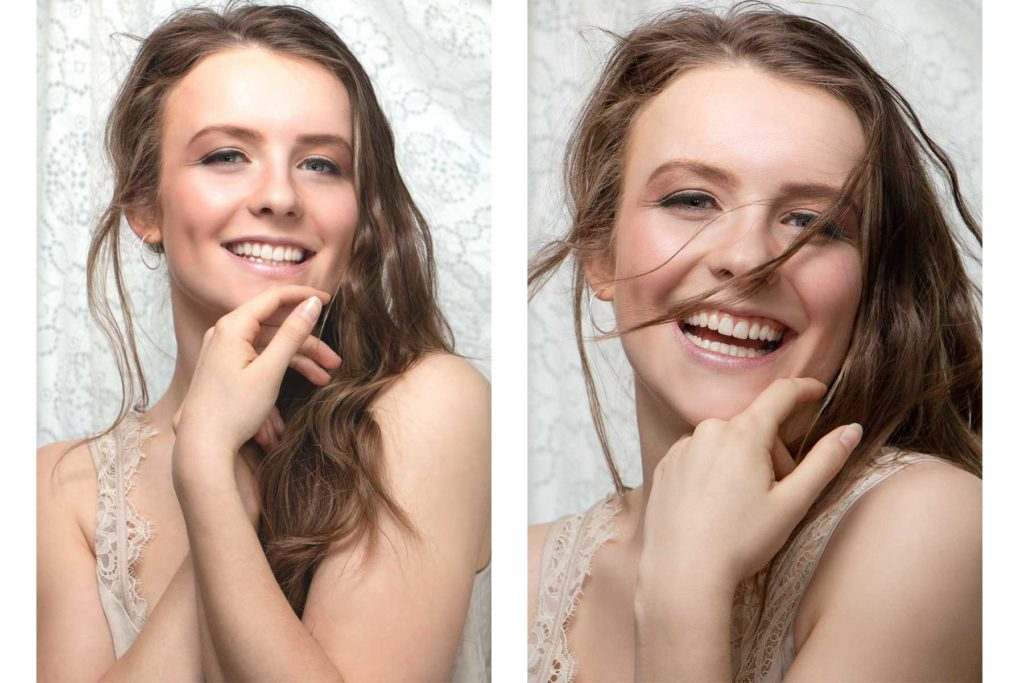 How to add movement to your portraits. Use a hair dryer or a fan to add motion to the hair - Anastasia Jobson photography