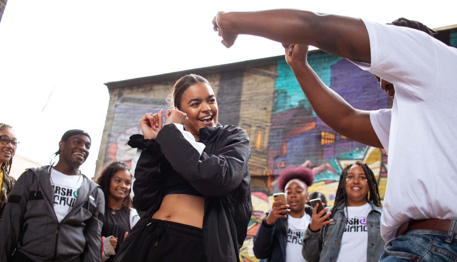 Dance event photography by Anastasia Jobson. Birmingham Weekender 2019, Dance Jam in Digbeth