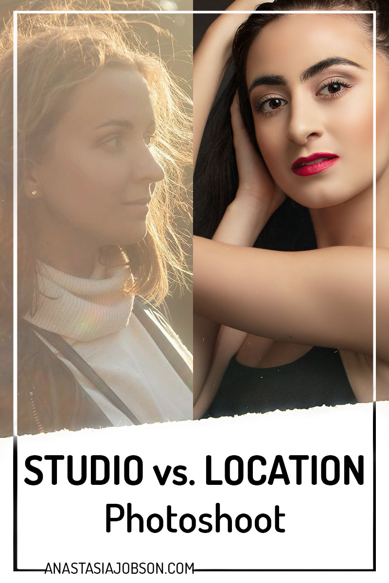 Studio vs on location photo session. How to decide which one you need when planning your photoshoot - Anastasia Jobson blog