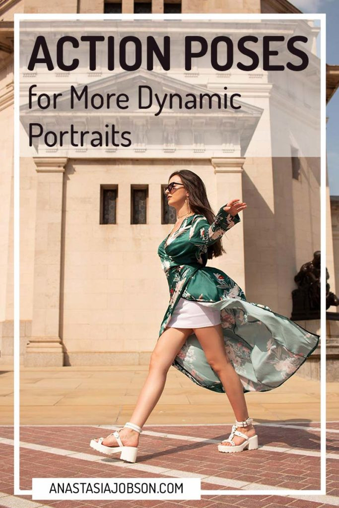 Action poses for more dynamic portraits. Action fashion photography in Birmingham U.K., posing and modelling tips - Anastasia Jobson