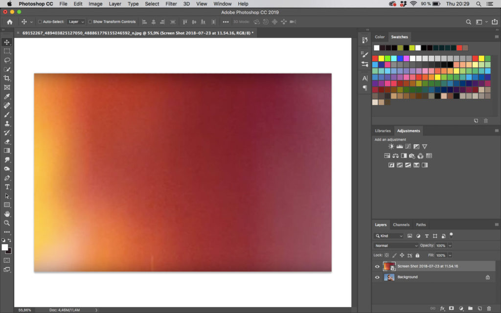 Light leak layer in Photoshop