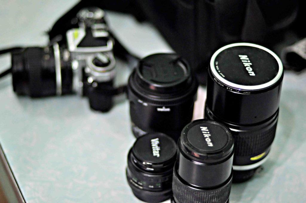 Nikon, Vivitar vintage lenses