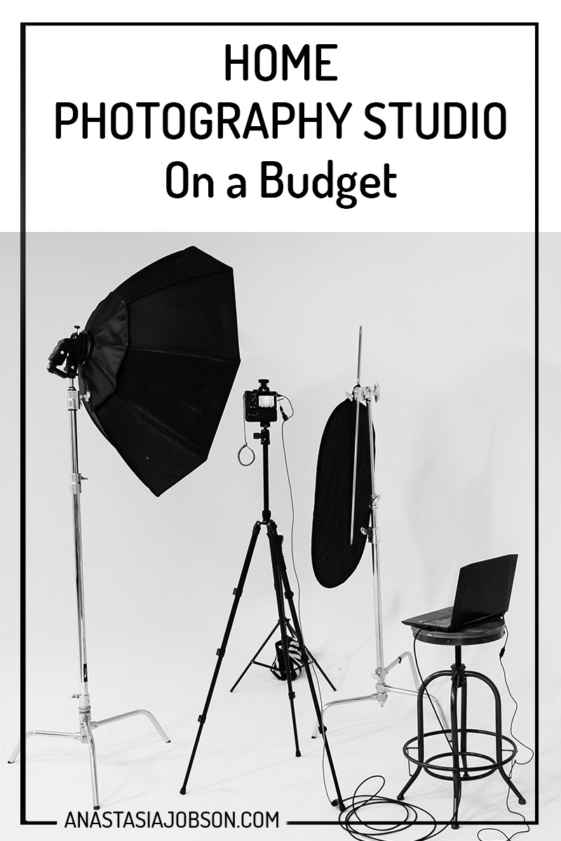 home photography studio on budget - create your own photo studio anywhere - Anastasia Jobson photography blog