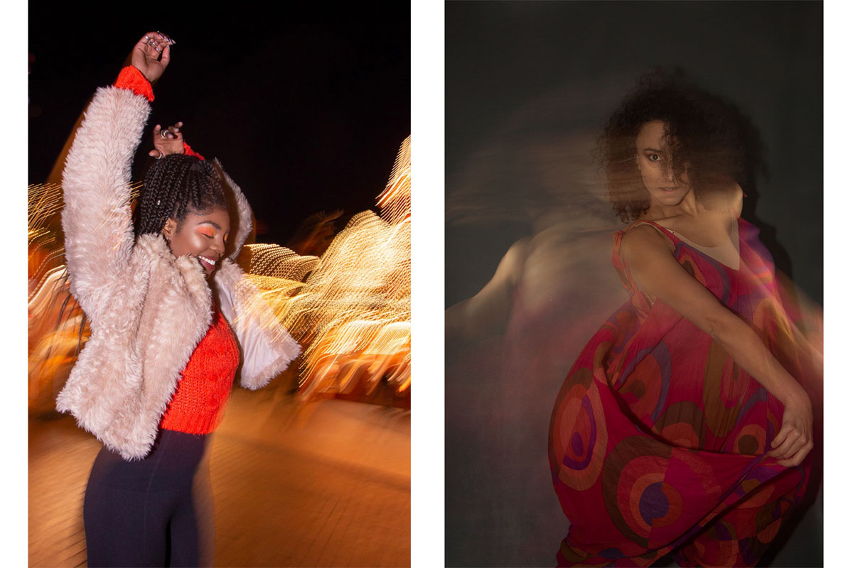 Camera settings for dance photography. Dance and movement photography by Anastasia Jobson. Slow shutter dance photo, creative dance photography
