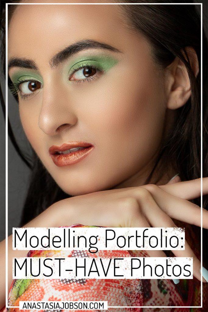 Modelling portfolio: Close-up editorial beauty image.