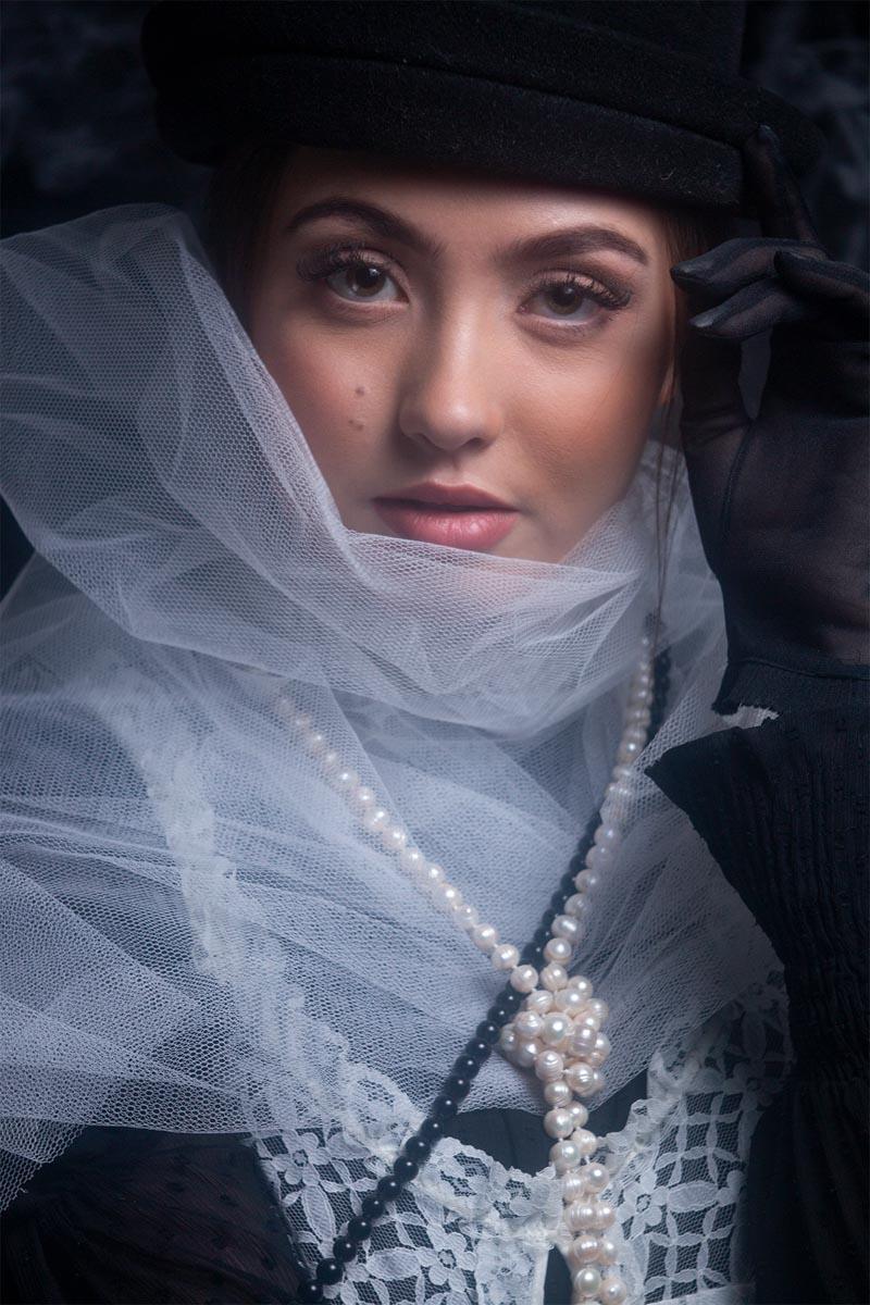 fine art portrait of a woman. Editorial fashion photoshoot in Birmingham U.K.
