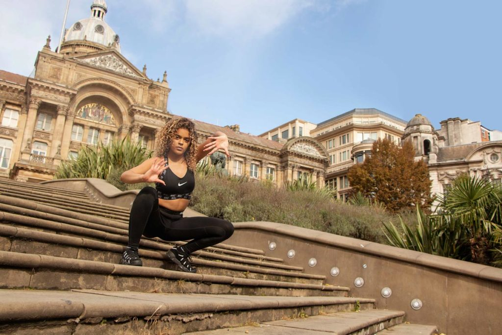Best lenses for dance photography; outdoor dance photoshoot at Victoria square Birmingham; Street dance photoshoot