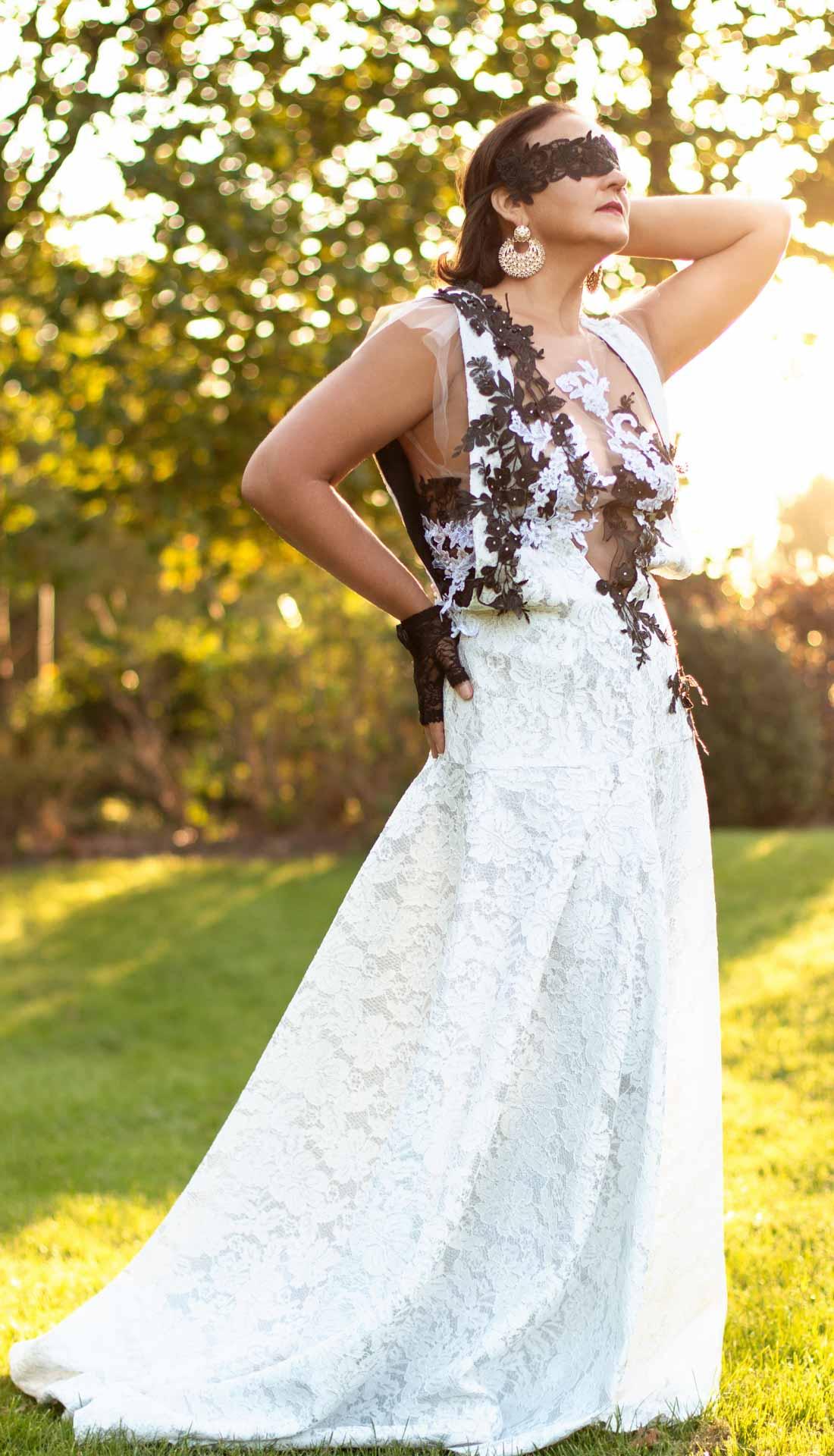 Bridal fashion, wedding dress by Birmingham fashion designer Donna Marina, Birmingham fashion photographer