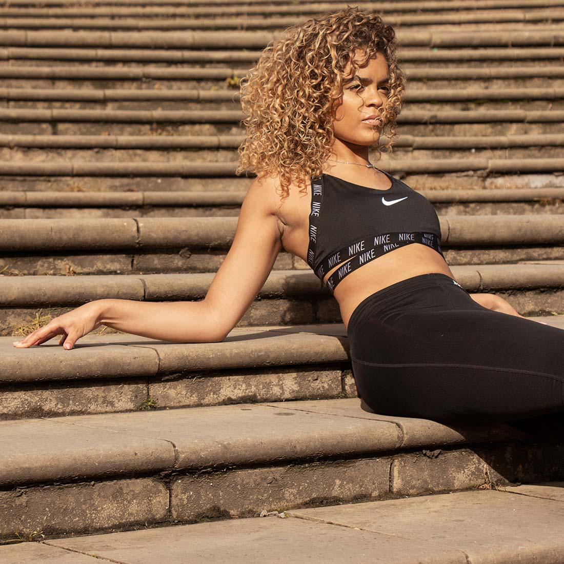 Fitness fashion photoshoot in Birmingham city centre, Nike fitness wear, women fitness fashion, fashion photography West Midlands