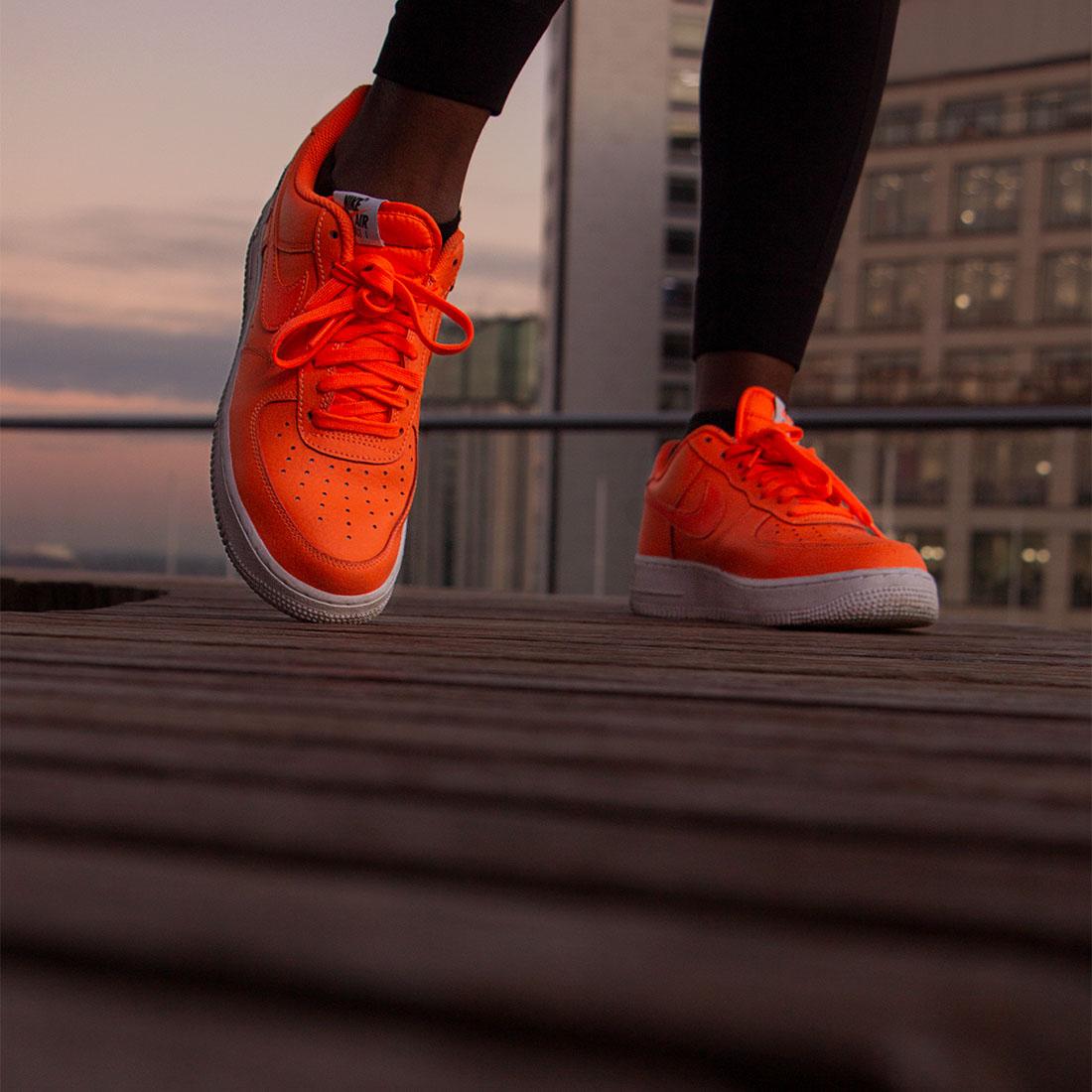Birmingham fashion photographer, orange Nike shoes, sport fashion photography