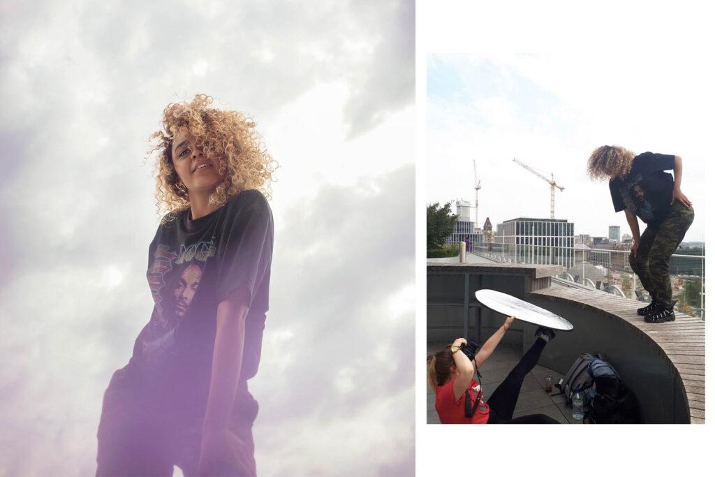 Birmingham outdoor portrait photoshoot with a dancer Rio. Creative portrait and dance photography in Birmingham UK.