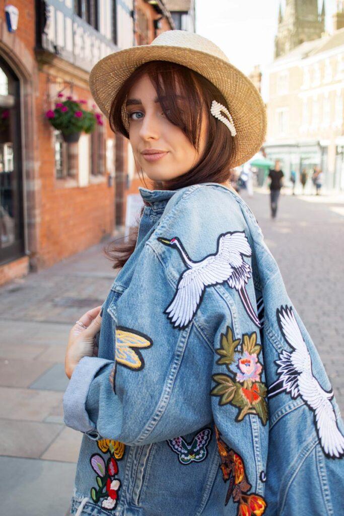 Reworked vintage denim fashion, fashion photographer Birmingham UK