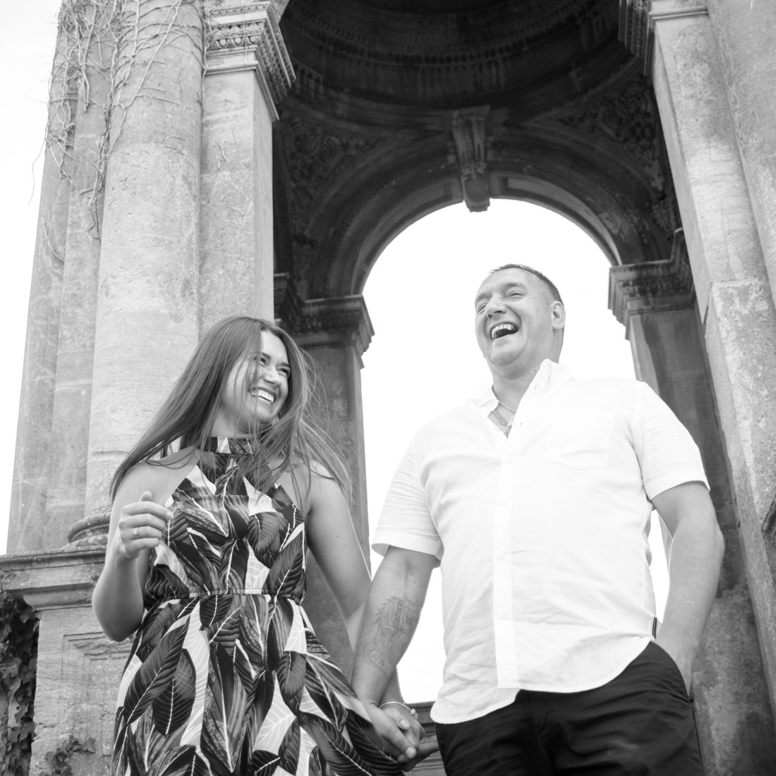 Wedding photoshoot in Witley Court and Gardens, Worcestershire. Wedding photographer West Midlands