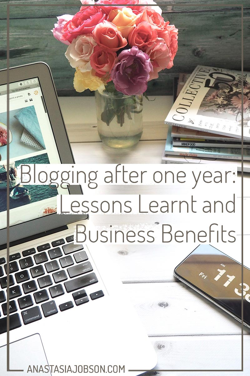 Business benefits of blogging. Blogging after one year: lessons and benefits