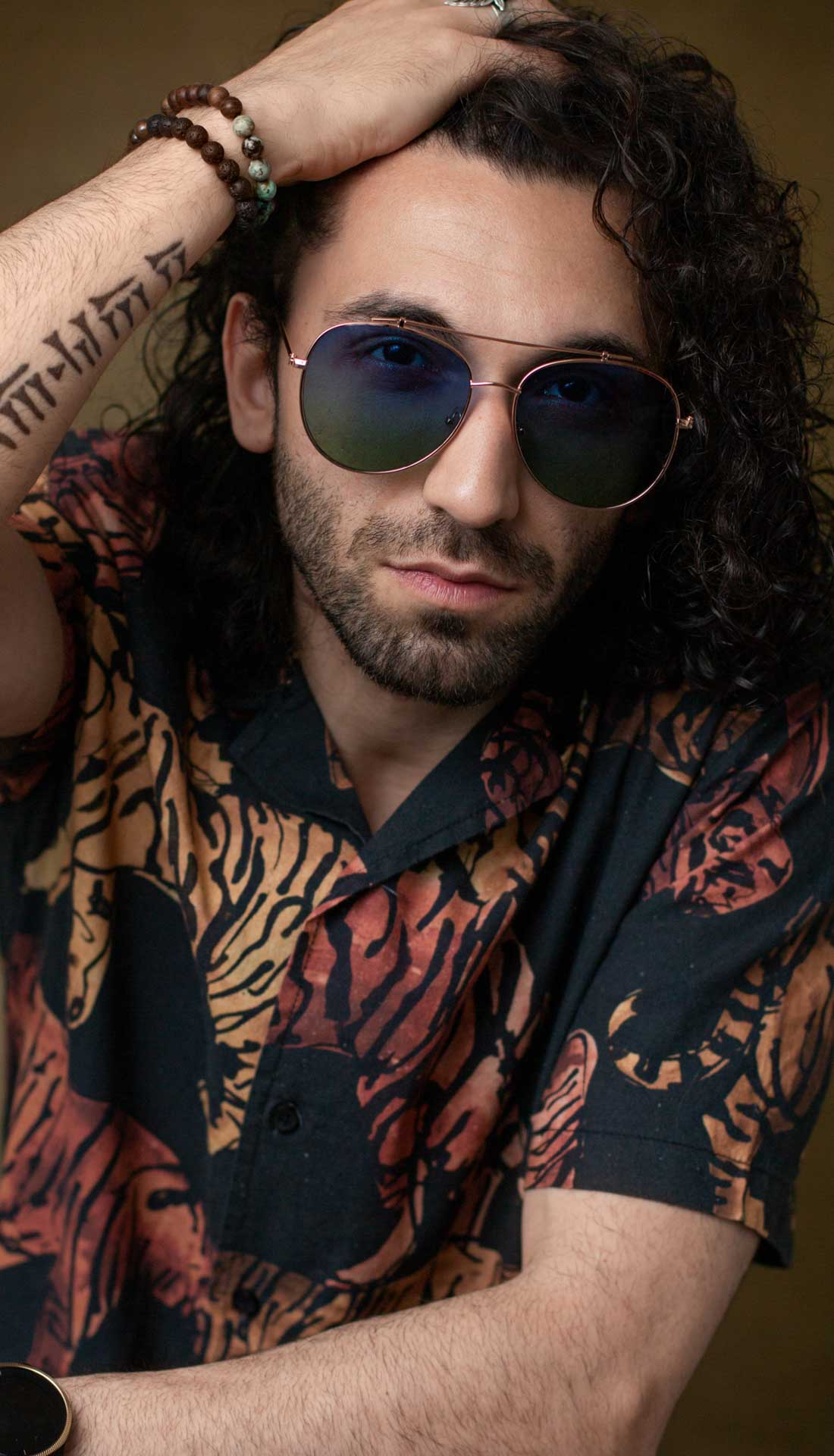 Commercial portrait of a Birmingham based musician Naser. Professional photography in West Midlands