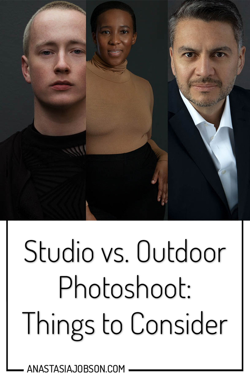 studio vs outdoor photoshoot - how to choose. Photoshoot preparation tips and advice