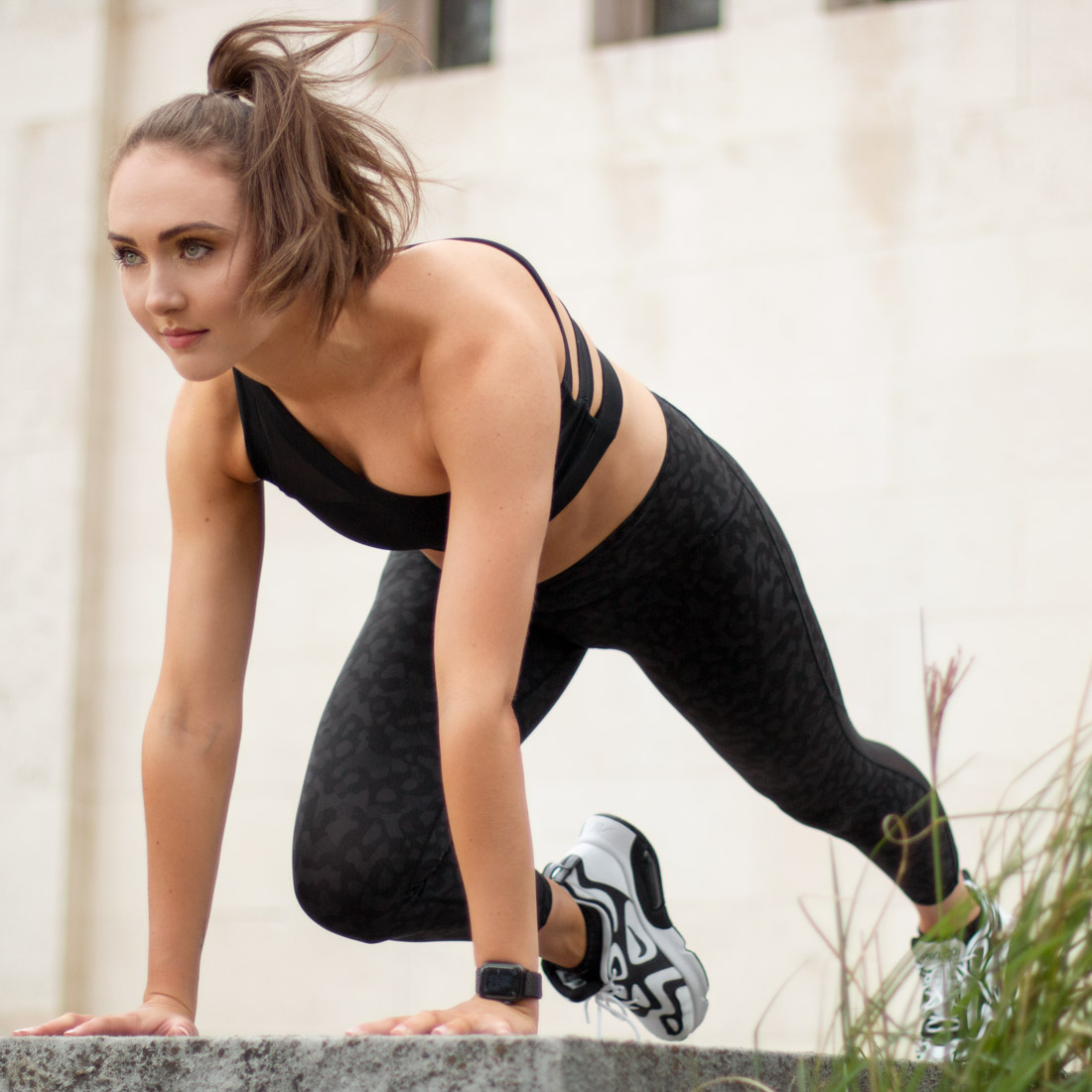 Outdoor fitness photoshoot in Birmingham city centre, fitness photography West Midlands