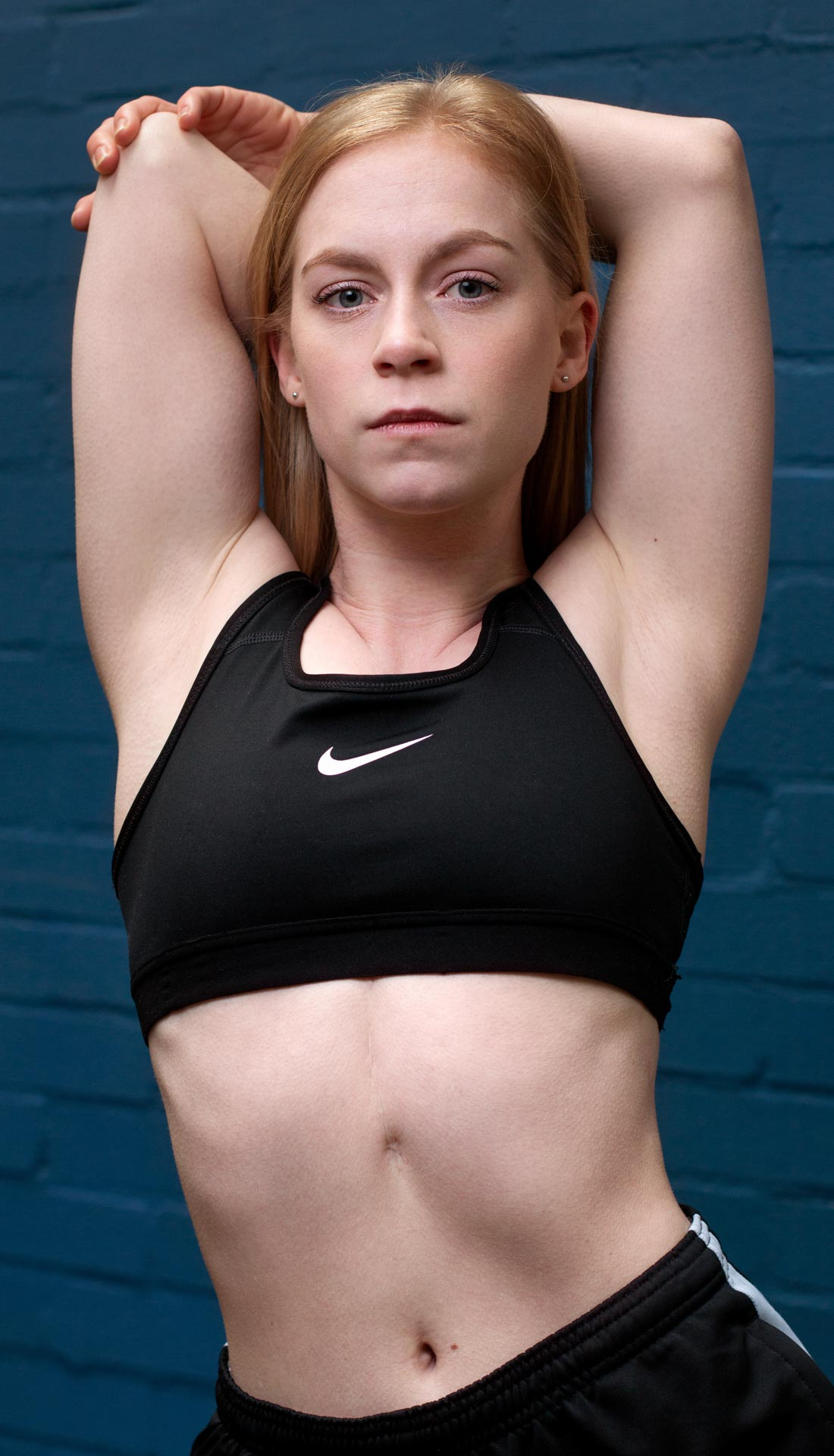 A fitness headshot of a Brighton based dancer Grace