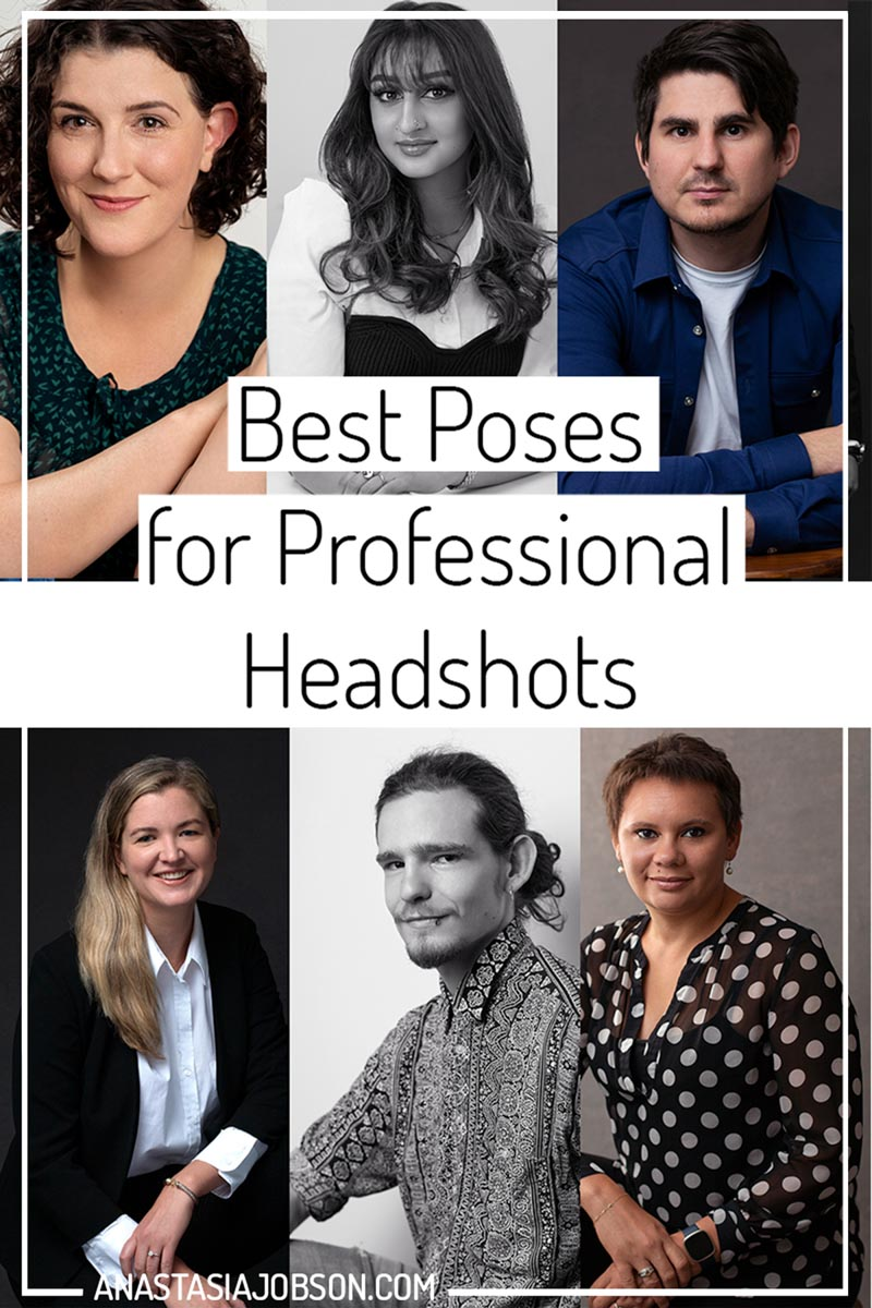 Best poses for professional headshots, protography blog by Anastasia Jobson